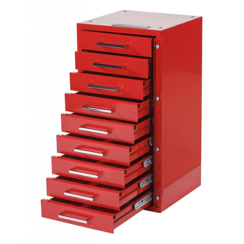 Gereedschapskast ladenblok 31 5 x 30 x 61 cm rood for Ladenblok rood