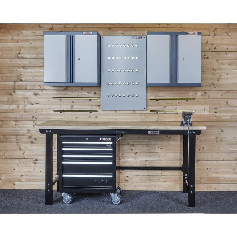 Complete werkplek type 8   werkbank set   gereedschapskast   gereedschapsbord   Powerplustools